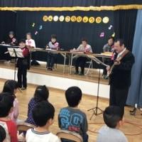 保育園児と音楽交流会です。