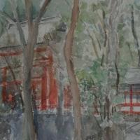 大宮氷川神社(F10)水彩