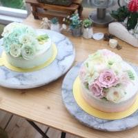 フラワーケーキ(アドバンストコース)1回目ブーケのケーキ