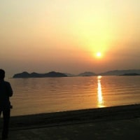 茜色の夕陽