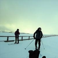 厳冬の美ヶ原を歩く
