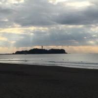 今日の波と江ノ島  11月29日