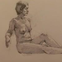 今月の裸婦デッサン