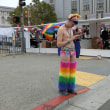 サンフランシスコのゲイパレードに遭遇しました。楽しかった。