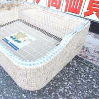 昭和レトロなタイルの流し台