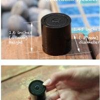 お風呂でも使える防水の小型スピーカー、Kickstarter