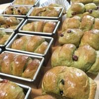 抹茶のロシニョール、白パン