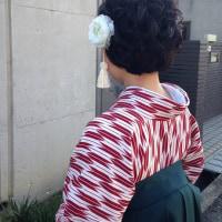 29.3.17出張着付、6件中1件目と2件目は富田林市&大阪狭山市、女袴&ヘアセットでした。