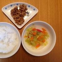 今日の離乳食(晩御飯)【120日目】