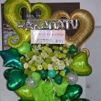 群馬県前橋市、大泉町にお届けのバルーンスタンド花