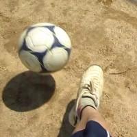 汗かきかきサッカー!