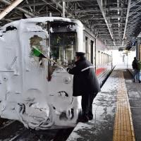 """(42枚!)2017年2月 北海道! 2日目pm""""旭川雪まみれ列車&宗谷ラッセルその1編"""""""