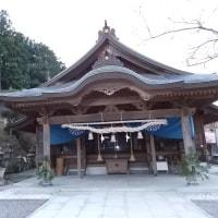平成29年1月4日、島根県 益田市 高津町 柿本神社 初詣