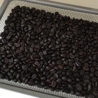 コーヒーの焙煎。
