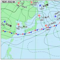 6月25日 アメダスと天気図。