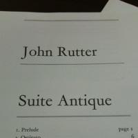 ジョン・ラター/古風な組曲(J.RUTTER Suite ANTIQUE)