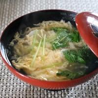 レシピ付き献立 和風煮込みハンバーグ・ブロッコリーとエリンギのソテーサラダ・かきたま汁