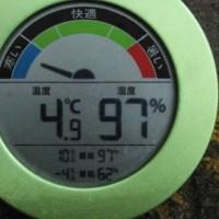 平成29年2月23日・今朝の東祖谷4.9℃