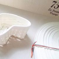 №2クラフトテープで作ったハート形のミニ籠