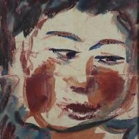 長谷川利行 「女の顔」