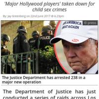 小児性愛者のリングでハリウッド主要エリート238人逮捕!