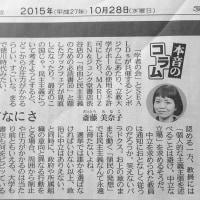 161229 一年前:151122 雑感:斎藤美奈子さん。辺見庸さん。健康になるためのブログ。