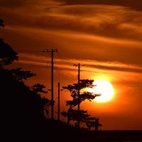 大六海岸の夕景