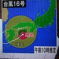 台風16号大阪直撃?第二室戸台風コースをたどるのか?