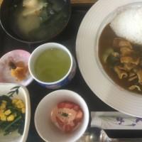 3月28日の日替り定食550円は 豚バラ肉と葉玉ねぎのカレー です。
