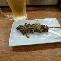 「居酒屋「駅前」和田岬店」!!「うなぎの肝焼き」!!