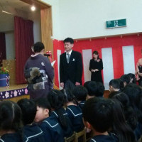 孫の幼稚園卒園式