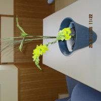 生花を生けました