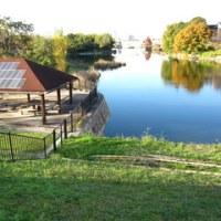 近くの池でコーヒータイム 報告します、寒いよって今年のキャンプは終了します