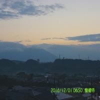 2016年12月01日、朝の桜島