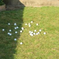 庭に出たらアプローチの練習❢ 90切りのためならという話。