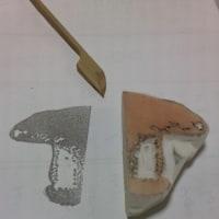 アンティーク図案の彫り 自習中