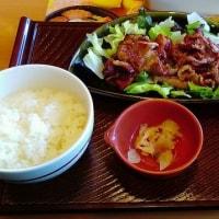 牛カルビのサラダ仕立て定食ランチ ガスト