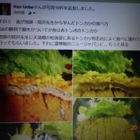 その1 Kei次はFederer お正月の花 筒井先生のトンカツ食べ方 サウナ 高架橋など