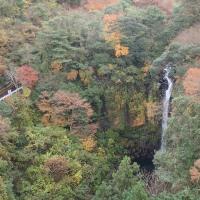 須津川渓谷の紅葉:須津川渓谷橋より