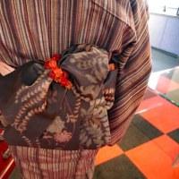 麻の半衿色ものもあります。(イベントで染めるにも使えます)昨日の着物美人さん