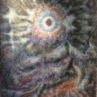 宇宙点描画 「水華」展   はじまります。