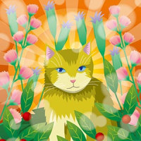 16年11月18日Illustratorでの猫イラスト。
