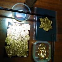 again🎶 金箔体験~さわる・はる・えがく~