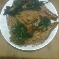 「ほうれん草のパスタ」を食べました!!