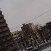 2017/3/25 午前10時前札幌の空模様 寝ても寝ても眠ーい(´ぅω・`)ネムイ体内時計が-(;´∀`)