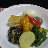 野菜の味噌かけ