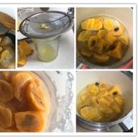 柿のコンポートとアコギ