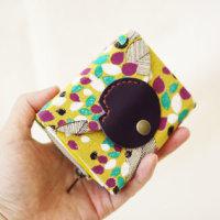 コンパクトなカードケース折り財布♪