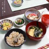 牡蠣のベーコン巻と牡蠣ご飯