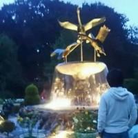 10月22日/噴水ライトアップ@アンデルセン公園
